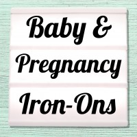Velour iron-on pictures category baby, pregnancy expectant mother