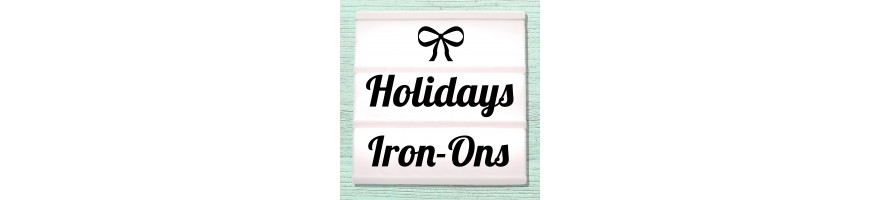 Iron-on pictures for Christmas, Easter, Halloween, carnival and fancy dress party