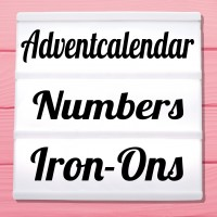 Glitter advent numbers to iron on