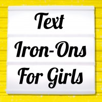 Reflective iron on pictures for girls