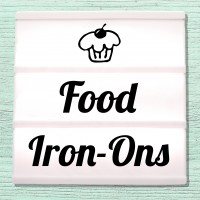 Iron-on pictures with food and confectionery motifs