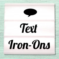 Iron-on pictures letterings and texts for ironing on