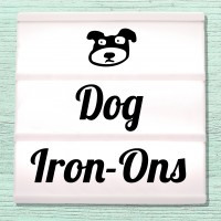 Velour and Flex iron-on pictures dogs and puppies