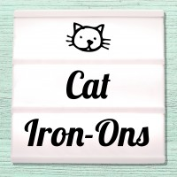 Velour and Flex iron-on pictures cats and kittens
