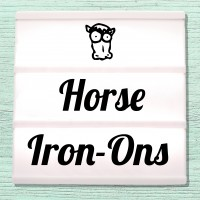 Velour and Flex iron-on pictures Horses and Ponies