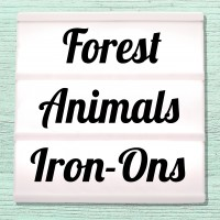 Velour and Flex iron-on pictures category forest animals, forest