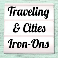 Velour and Flex iron-on pictures travel, cities and holidays