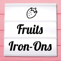 Glitter iron-on pictures fruit and fruits
