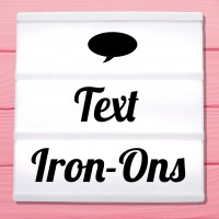 Glitter iron-on pictures category letterings, sayings and texts