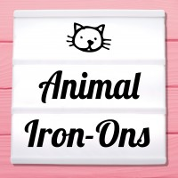 Glitter iron-on pictures category animal motifs