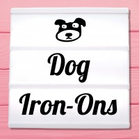 Glitter iron-on pictures dogs and puppies