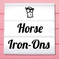 Glitter iron-on pictures horses and ponies