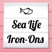 Glitter iron-on pictures maritime motifs and sea animals