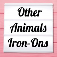 Glitter iron-on pictures other animal motifs