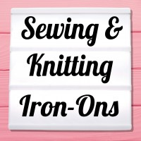 Glitter iron-on pictures needlework, knitting, crochet and sewing
