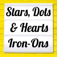 Reflective iron-on pictures category hearts, stars and dots
