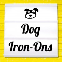 Reflective iron-on pictures dogs motifs