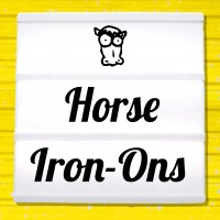 Reflective iron-on pictures category Horses