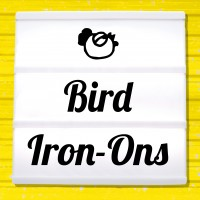 Reflective iron-on pictures category birds