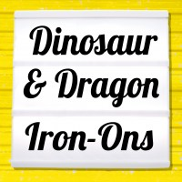 Reflective iron-on pictures dinosaurs, dragons and monsters