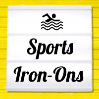 Reflective iron-on pictures with sports motifs