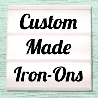 Velours and Flex iron-on pictures with individual motifs, names and texts