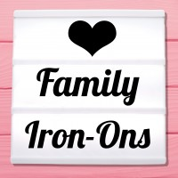 Glitter iron-on pictures category family